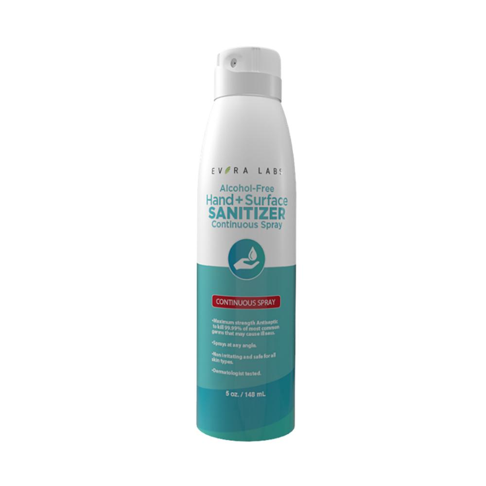 Advanced Alchohol-Free Hand & Surface Sanitizer Continuous Spray 5 oz
