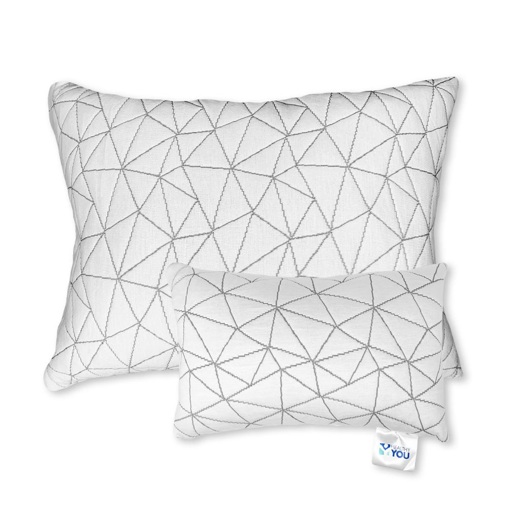 Healthy You® Premium Adjustable Loft Foam/Fiber Mix Pillow Standard with FREE Travel Size Pillow