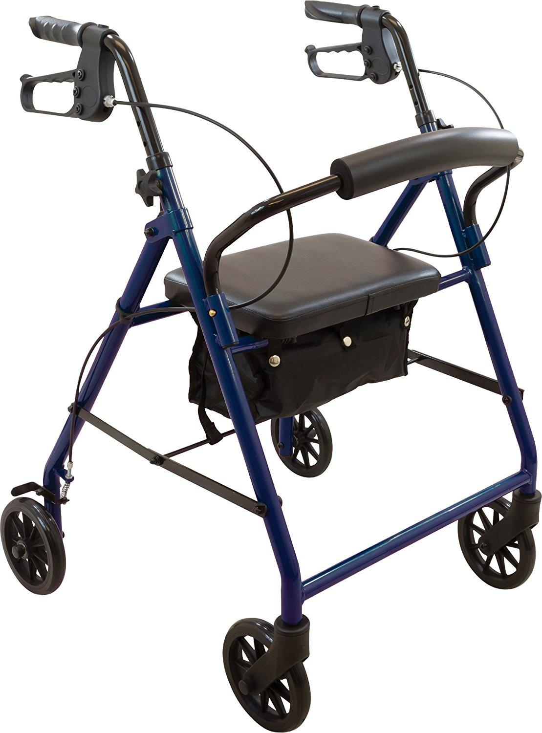 Roscoe Basic Steel Rollator with Padded Seat