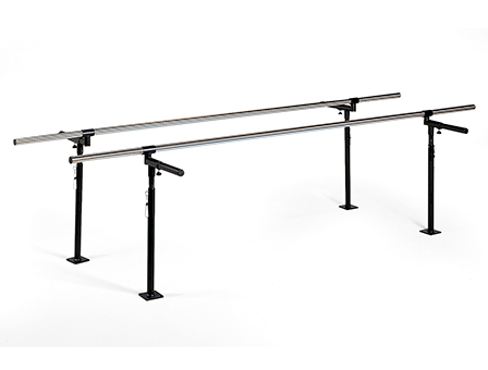 Hausmann Floor Mounted Adjustable Parallel Bars