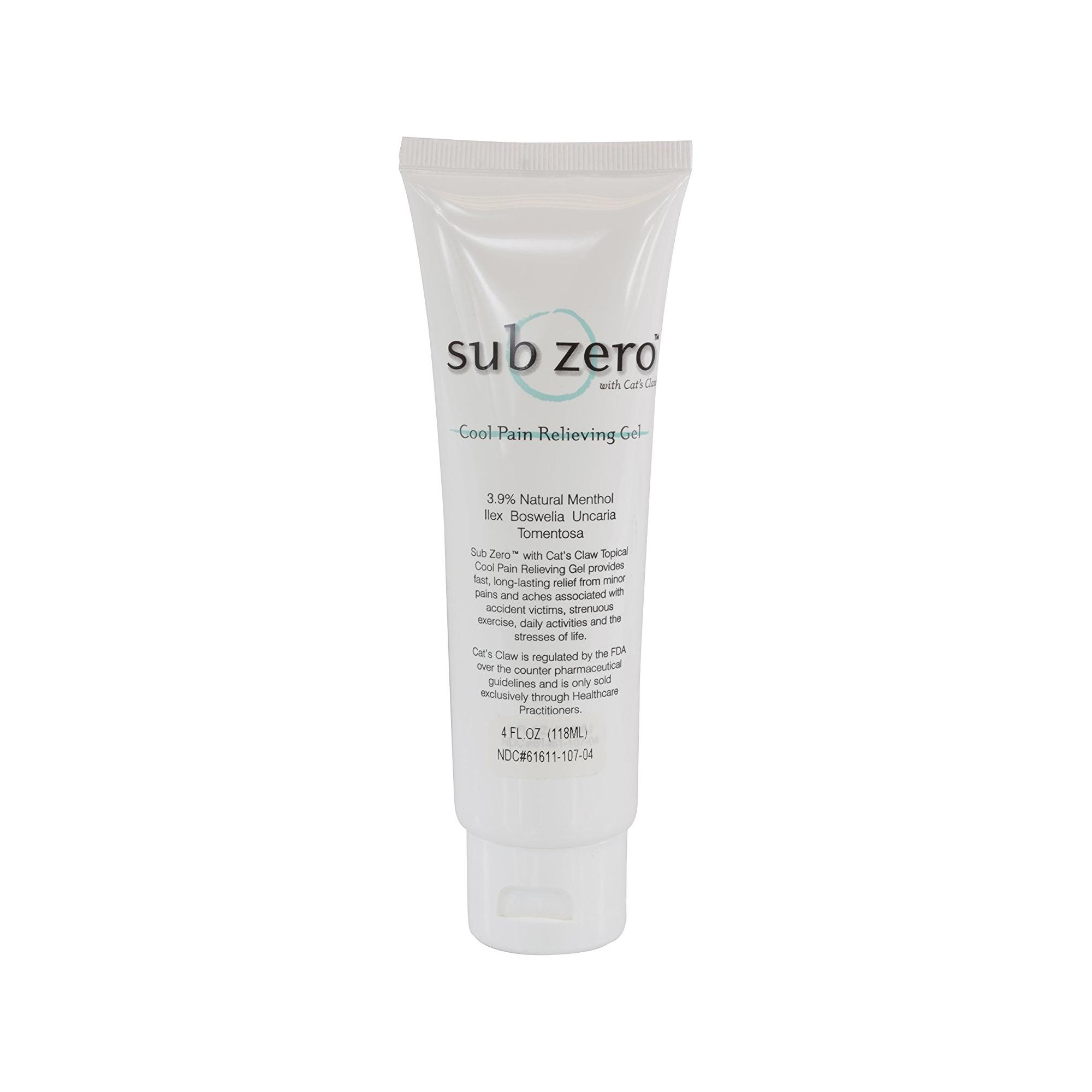 Sub Zero™ Cool Pain Relieving Gel 4 oz Tube