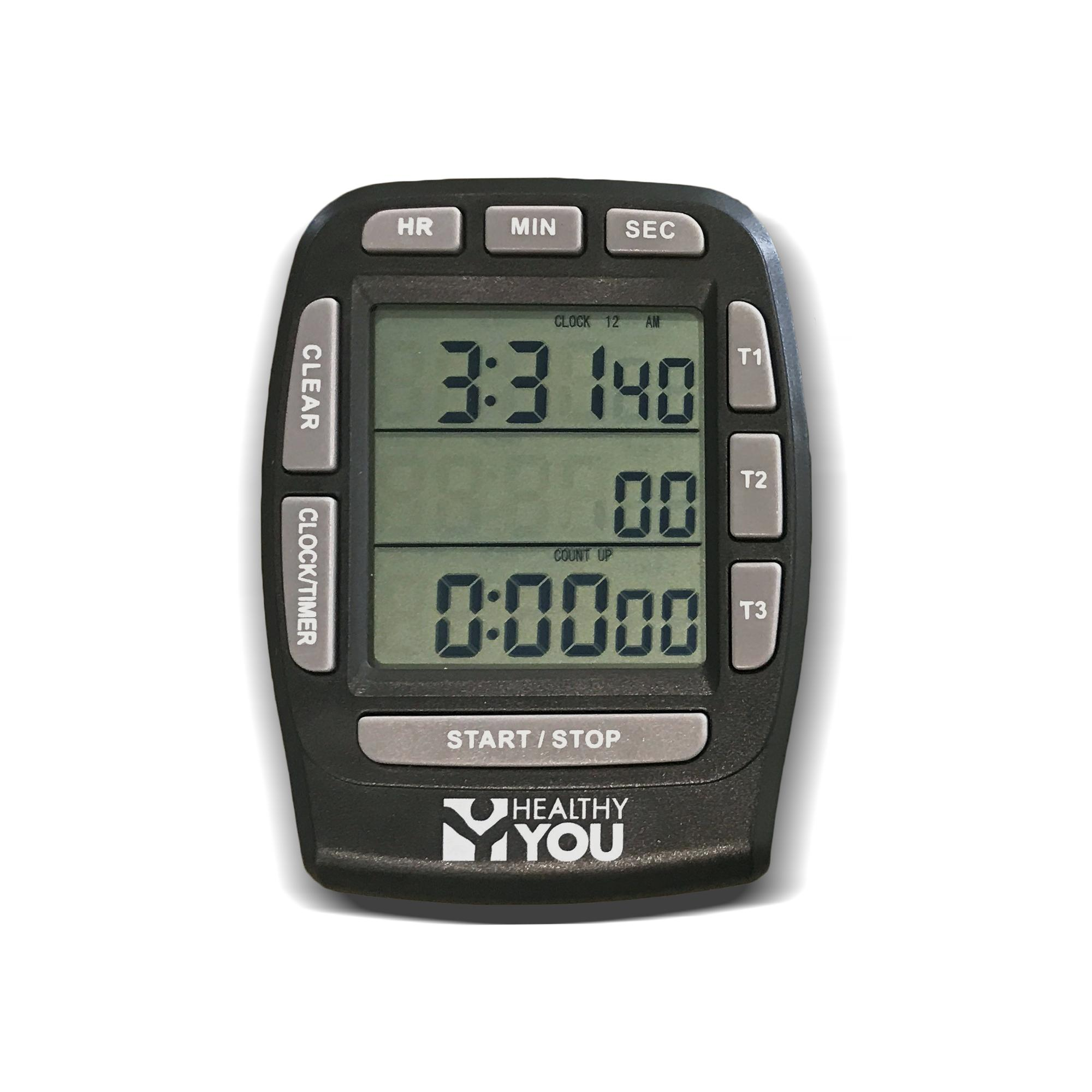 Healthy You™ Clock / Stopwatch / Triple Timer