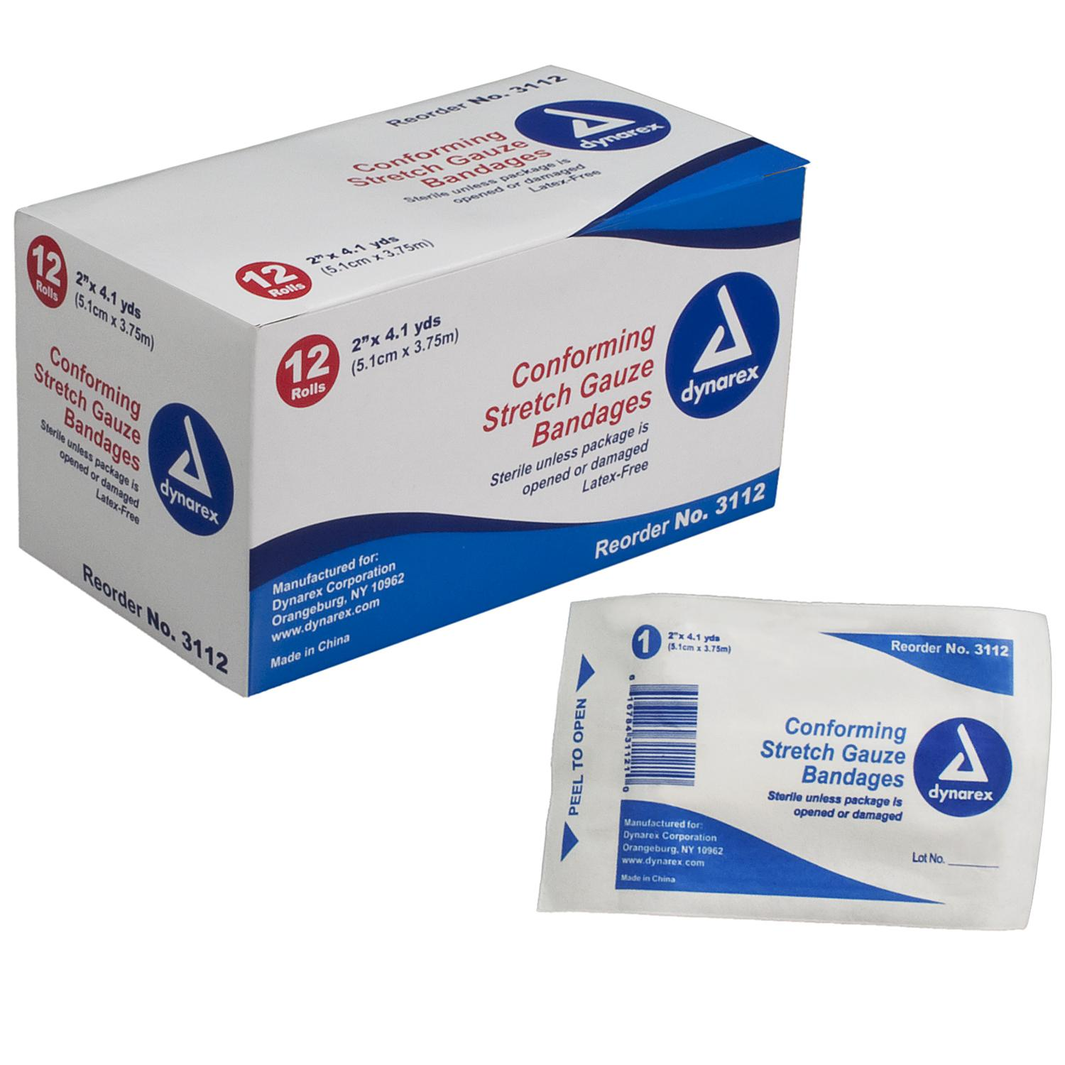 Stretch Gauze Bandage Roll Sterile 2
