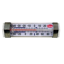 Horizontal Refrigerator Freezer Thermometer