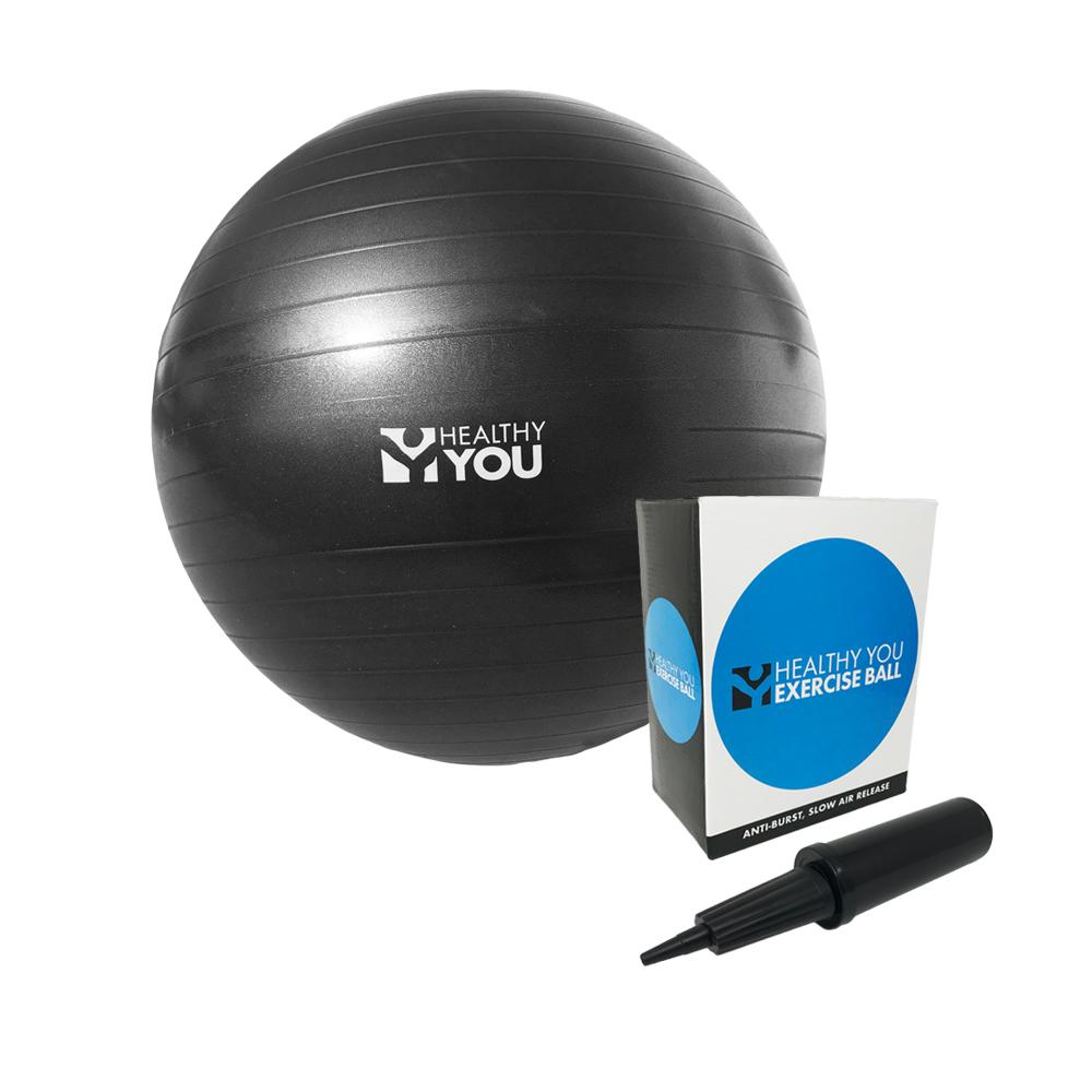 Healthy You™ Anti Burst Exercise Ball 65cm Black