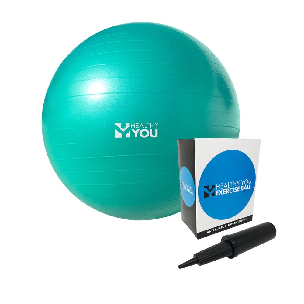 Healthy You™ Anti Burst Exercise Ball 75cm Teal