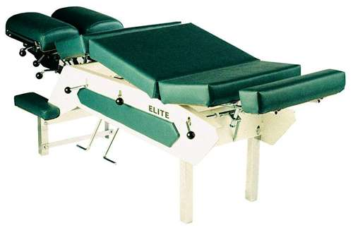 Elite Stationary Chiropractic Table With Cervical, Pelvic, Upper & Lower Thoracic Drops