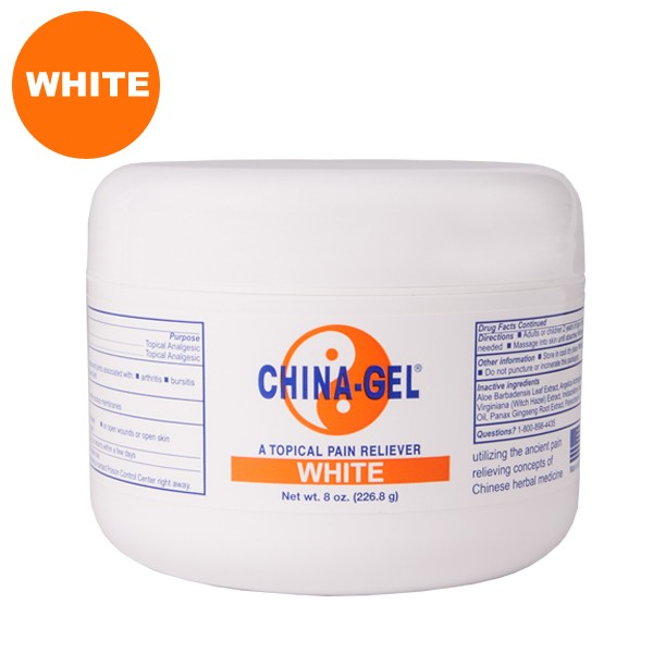 China-Gel® Topical Pain Reliever 8 oz Jar White
