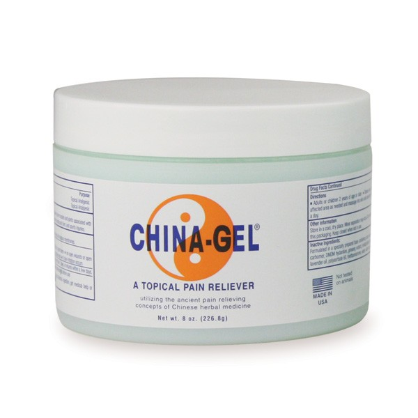 China-Gel® Topical Pain Reliever 8 oz Jar Green
