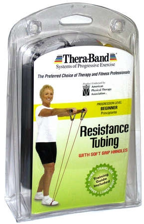 Thera-Band® Tubing with Soft Grip Handles Yellow 48