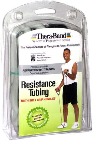 Thera-Band® Tubing with Soft Grip Handles Silver 50