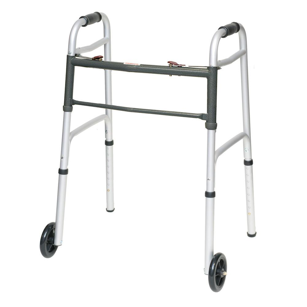 ProBasics® Aluminum Adult Walker 2 Button with 5