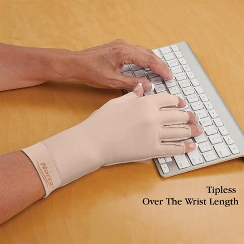 Norco™ Therapeutic Compression Gloves Tipless Finger / Over the Wrist