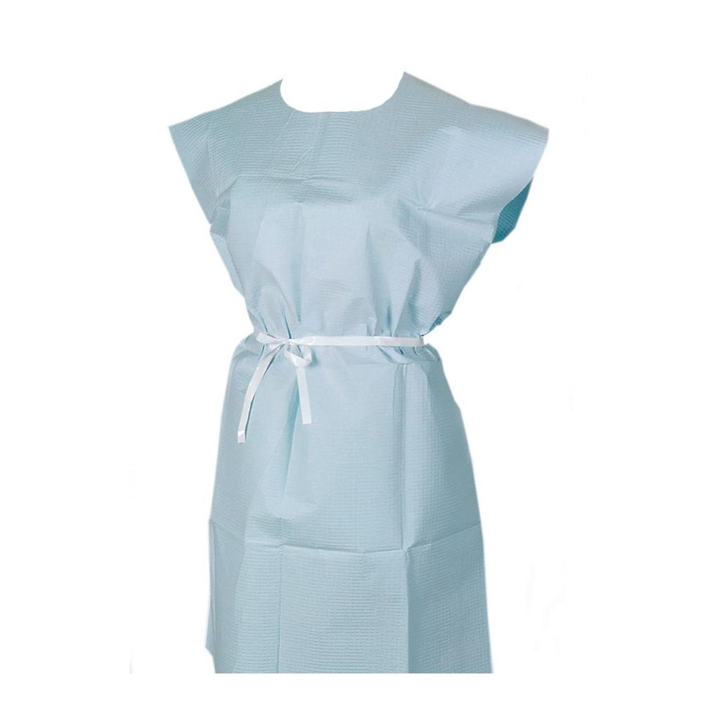 Disposable Exam Gowns Blue 50/Case
