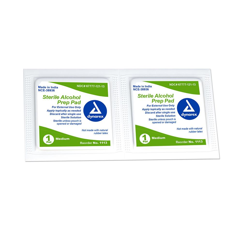 Dynarex® Alcohol Prep Pads 200/Box