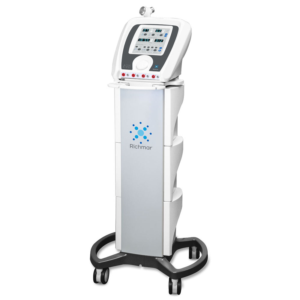 Richmar™ Winner CM4 EVO Ultrasound/Stim 4 Channel w/ Cart, Therapy Hammer, and Accessories