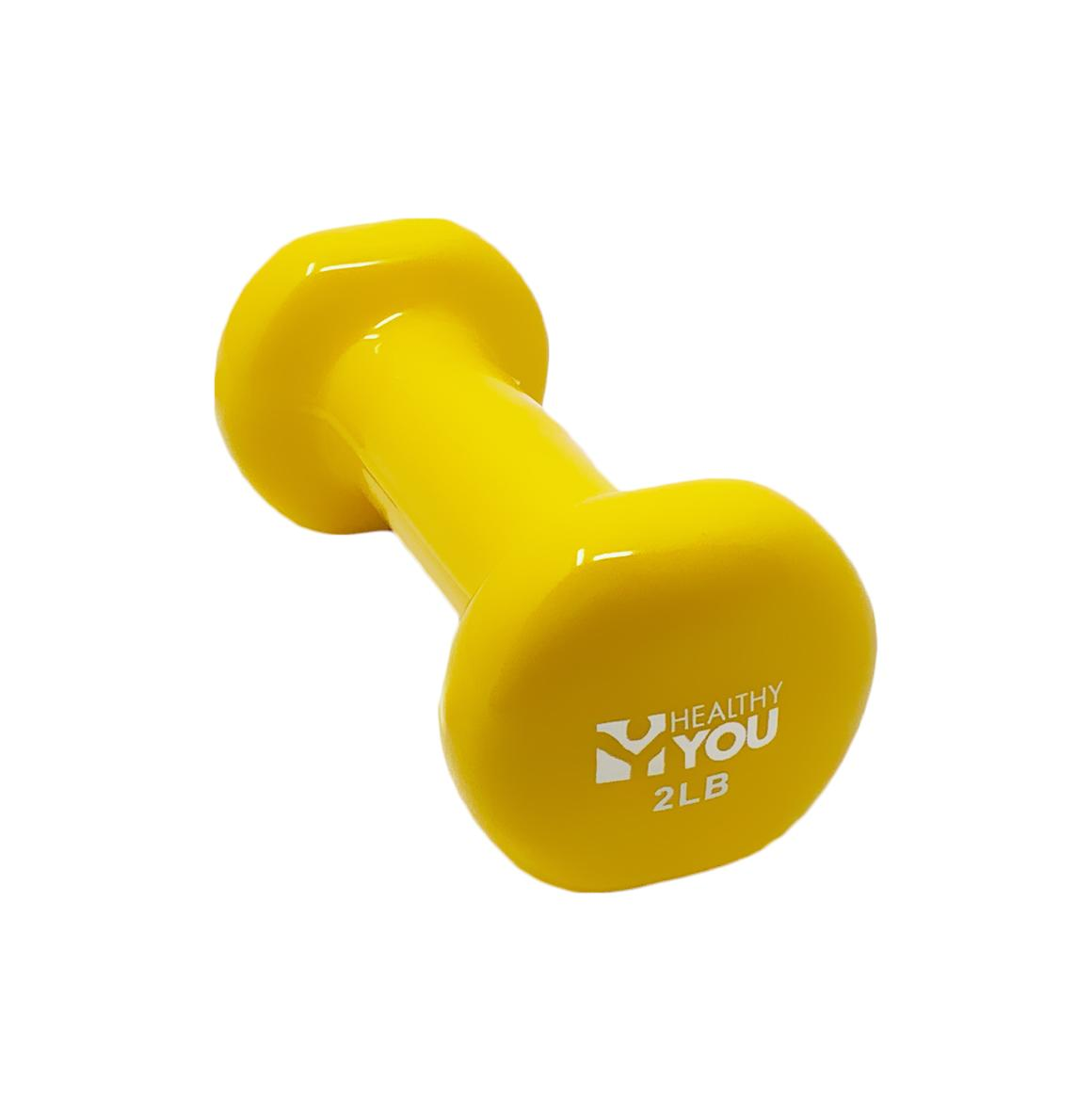Healthy You™ Vinyl Coated Dumbbell 2 lb Yellow