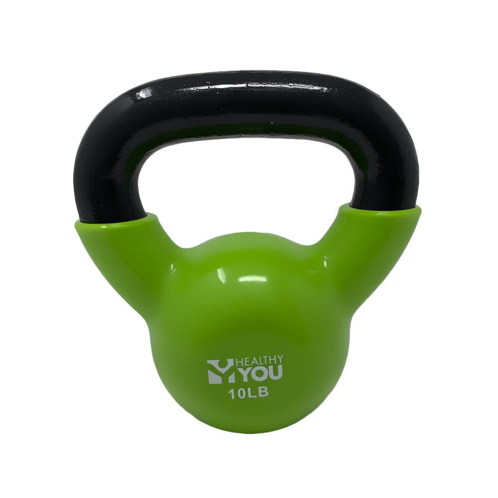 Healthy You™ Vinyl Coated Kettlebell 10 lb Light Green