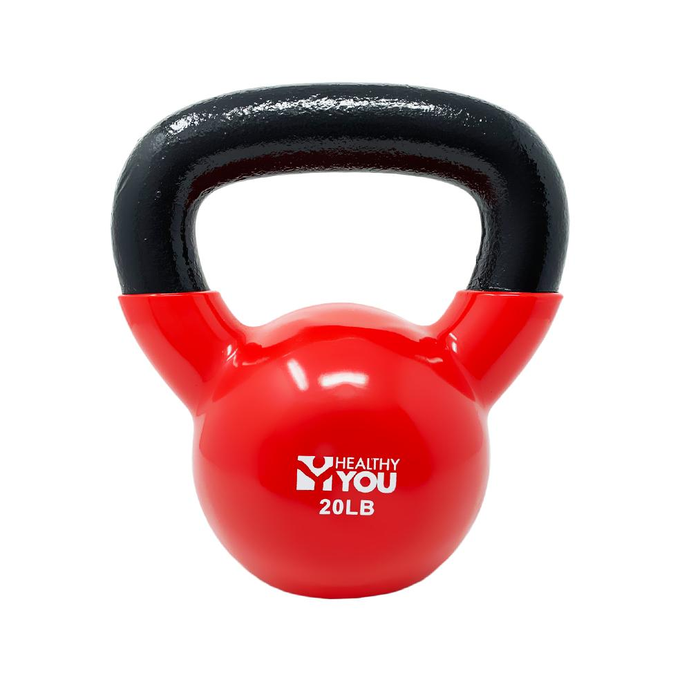 Healthy You™ Vinyl Coated Kettlebell 20 lb Red
