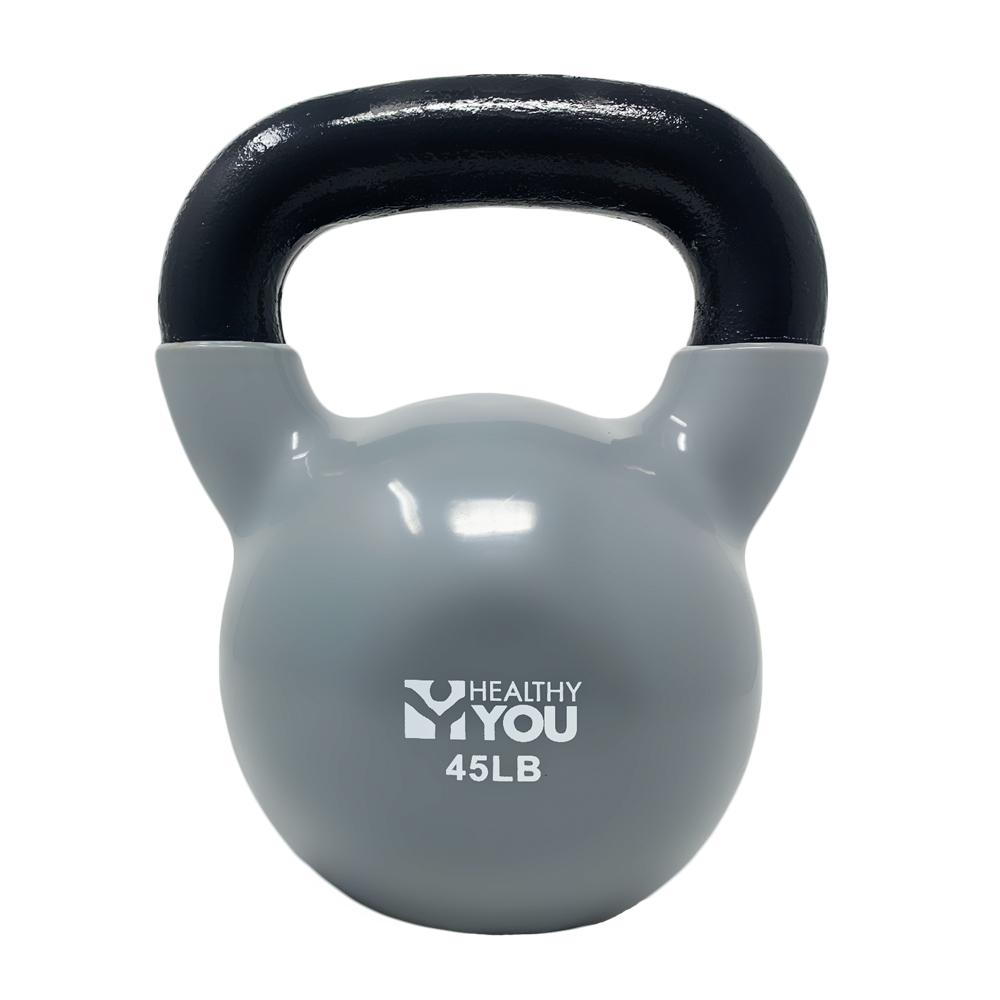 Healthy You™ Vinyl Coated Kettlebell 45 lb Gray