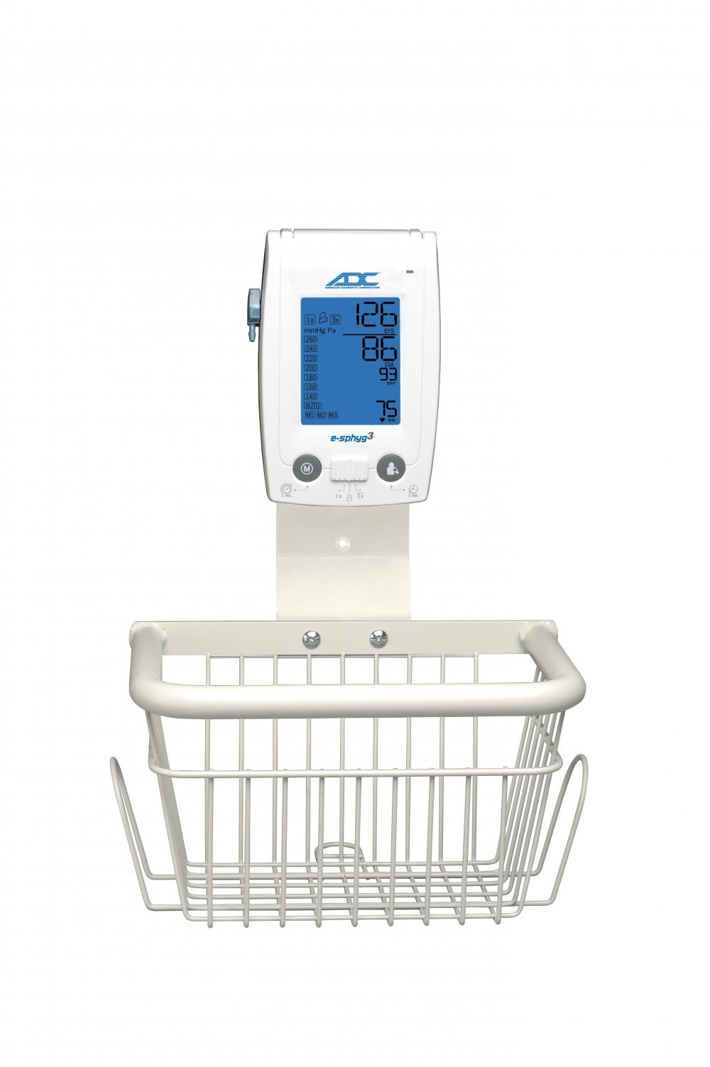 Wall Mount with Basket for e-sphyg™ 3 NIBP Monitor