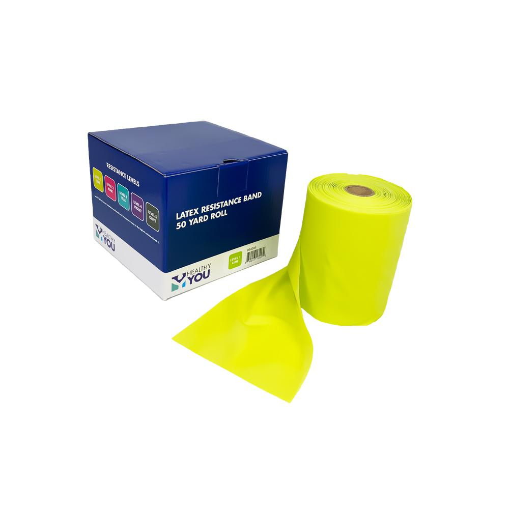 Healthy You™ Latex Resistance Band 50 Yard Band - Level 1 Lime