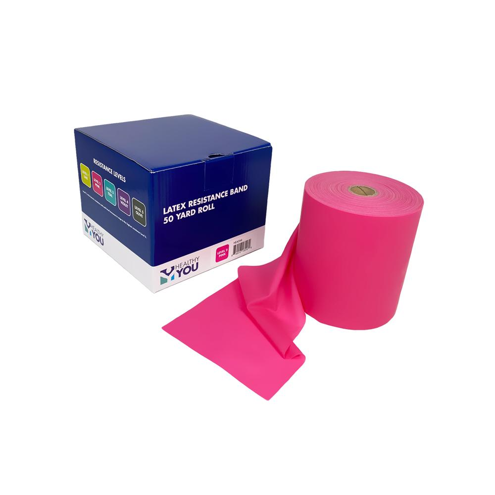 Healthy You™ Latex Resistance Band 50 Yard Band - Level 2 Pink