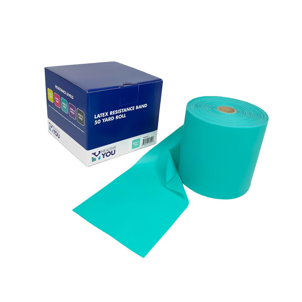 Healthy You™ Latex Resistance Band 50 Yard Band - Level 3 Teal
