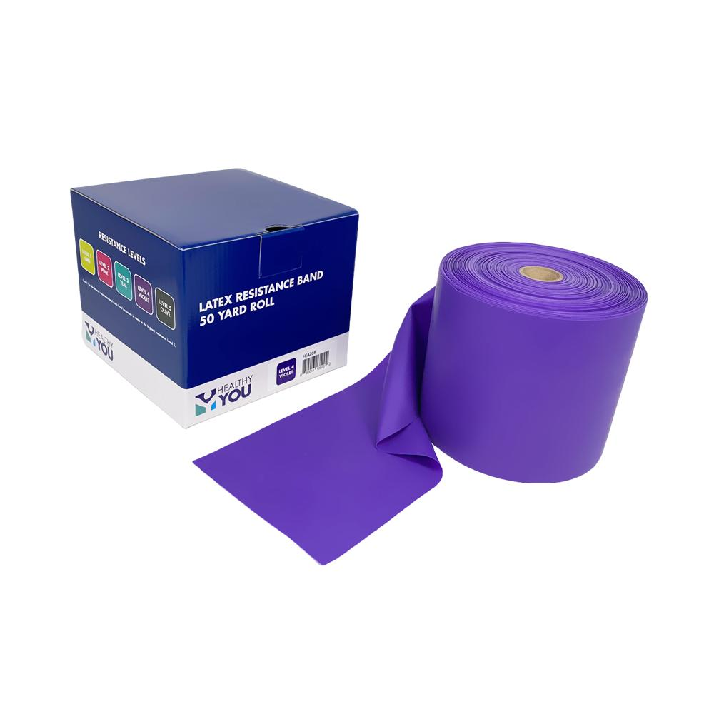 Healthy You™ Latex Resistance Band 50 Yard Band - Level 4 Violet