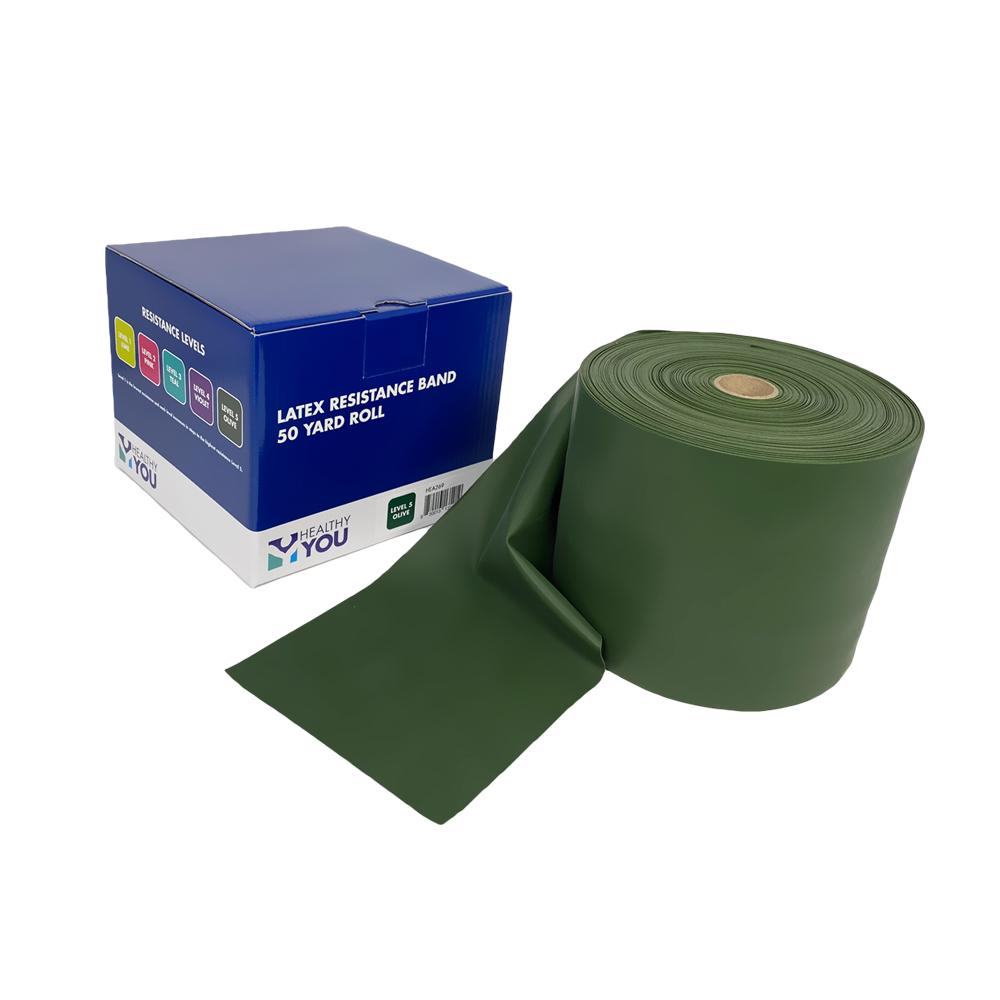 Healthy You™ Latex Resistance Band 50 Yard Band - Level 5 Olive