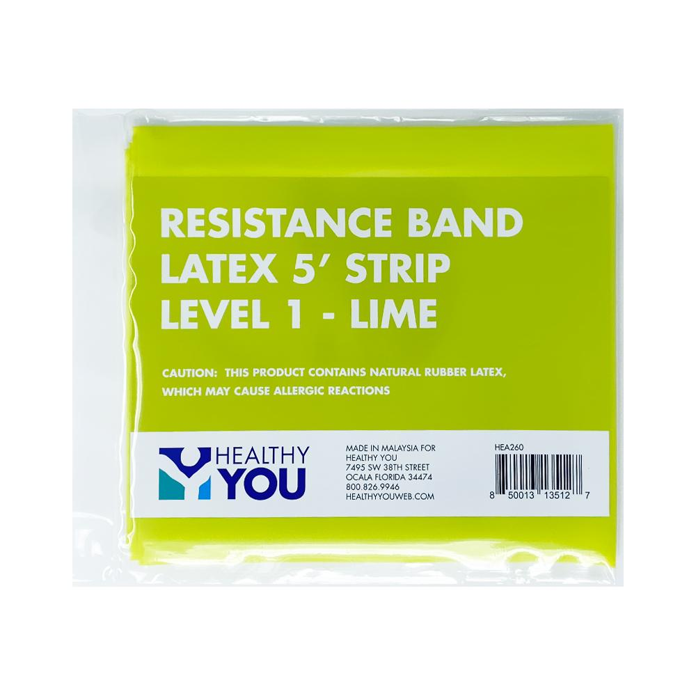 Healthy You™ Latex Resistance Band 5' Band - Level 1 Lime