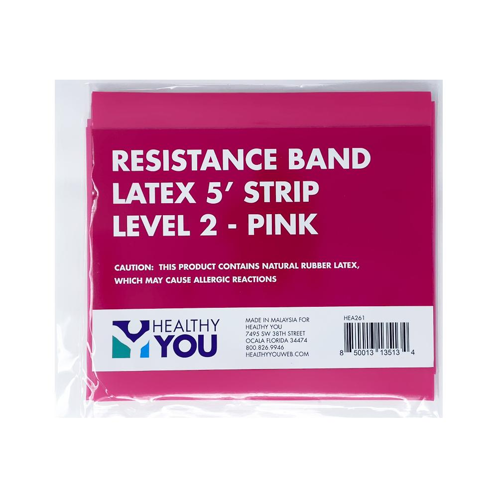Healthy You™ Latex Resistance Band 5' Band - Level 2 Pink