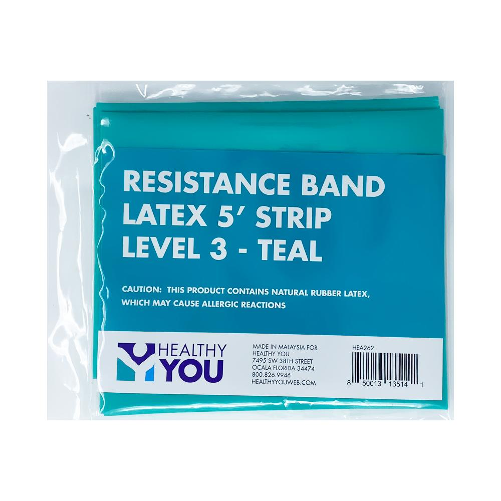 Healthy You™ Latex Resistance Band 5' Band - Level 3 Teal