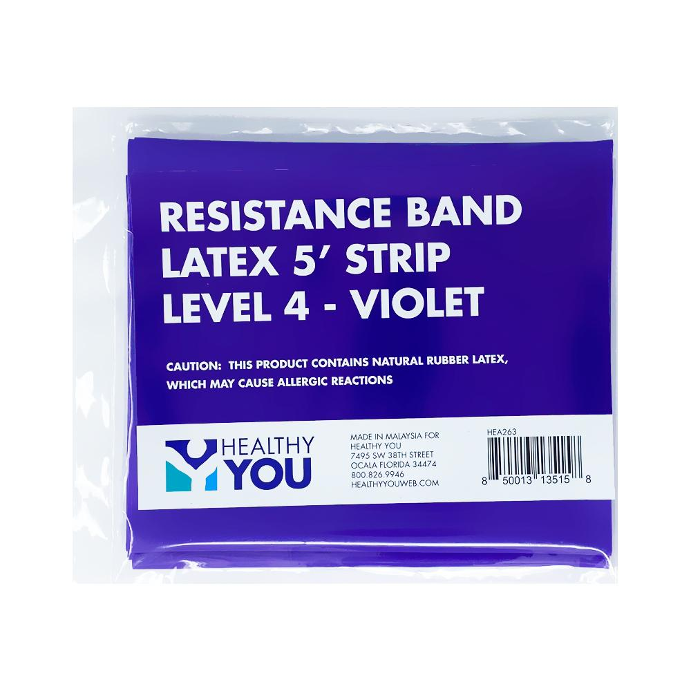Healthy You™ Latex Resistance Band 5' Band - Level 4 Violet